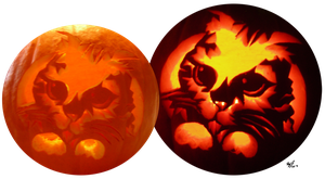 Puss In Boots Jack O' Lantern by lizluvsanime2