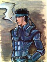 Solid Snake -gift art- by Monkanponk