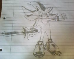 shadow the hedghog drawing by epicosmidy18