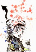 Lil Ugly Frog Hat Girl by JimMahfood-FoodOne