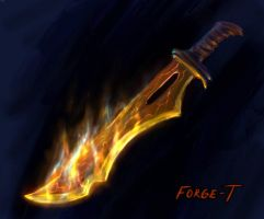 Fiery Blade concept by Forge-T