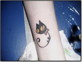 tiny cat by kama-tattoo