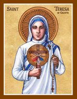 St. Teresa of Calcutta icon by Theophilia