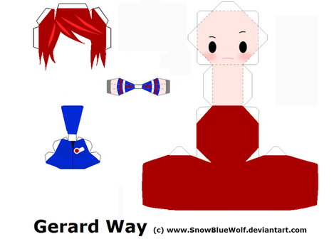Gerard Way Papercraft Template by SnowBlueWolf