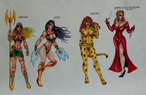 Wonder Woman Villains Redone: Page3 by Medusa1893
