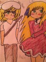 Brother and sister ( Hetalia ) by manajiwinp