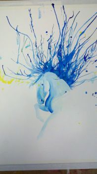 Blue Watercolor by Friesians9230