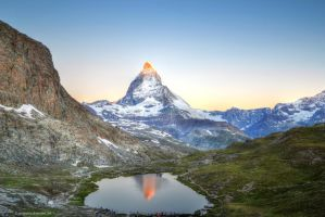 Matterhorn at Sunrise by artamusica