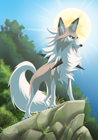 Lycanroc - sun by hecatehell