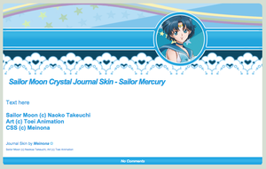 SMC: Sailor Mercury Journal Skin by Meinona