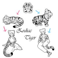 Zodiac Tiger Breedable by IcyPanther1