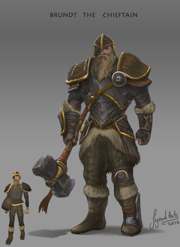 Brundt the chieftain by RS-LegendArts