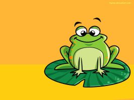 GREEN FROG by hanno