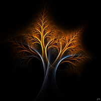 A Tree of Fire and Ice by ImagersFractalDDs