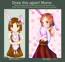 Re-draw - Bunny girl by LucidDreamer2