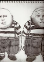 Tweedledee and Tweedledum by thedarkenedkeeper