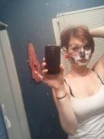 Day of the dead face makeup by Lyz7822