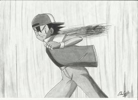 Ash Ketchum Drawing by Krizeii