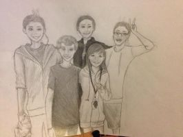 Progress on a picture of me and my friends :3 by xXlove-killerXx