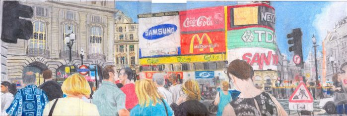 Prismacolor Piccadilly Circus. by stevebrandon
