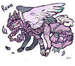 //CLOSED// - Rose Dog Adopt by FlSHER