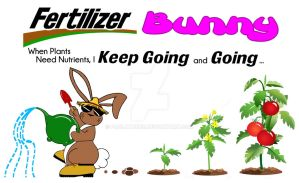 Fertilizer Bunny Garden Cartoon by slushgem