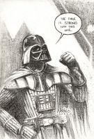 Darth Vader Sketch by FlowComa