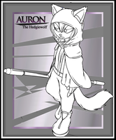 .:Line-art:. Auron The Hedgiewolf by XaveNDaNirvana