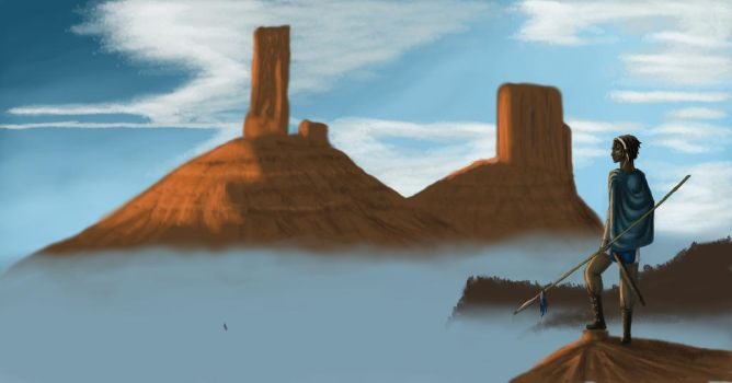 Mist over the mesa's by rufious