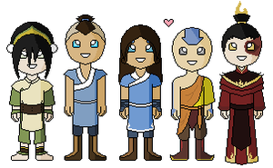 The Avatar Gaang-Avatar Minis by innocent--angel