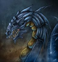 Blue Dragon by valhadar