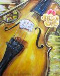 Spring Violin by Art-By-Ashley-Martin
