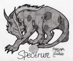 Shaded Sketch Commission - Spectrum by Dragon-of-Quelthalas