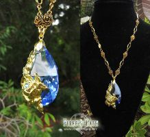 Blue Rose Necklace by Lillyxandra