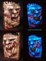 Texas Chainsaw Massacre Zippo by Undead Ed Glows i by Undead-Art