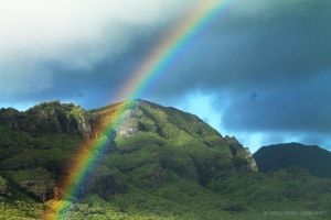 Rainbow sky and Mountain by Cocotte-Vero91
