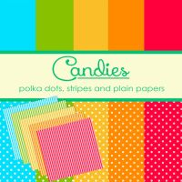 Candy Colored Papers by TeacherYanie