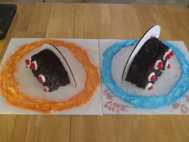 Portal cake by Kurgy
