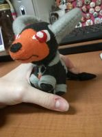 Houndoom Pokedoll Style Plush by Vulpes-Canis