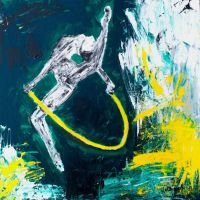 Gymnast Yellow Rope by dabaryan