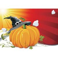 505-Free-Vector-Halloween-Pumpkin-with-Witch-h by cgvector