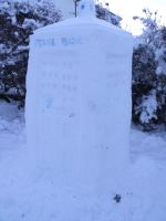 Snow TARDIS by TheTranscendental