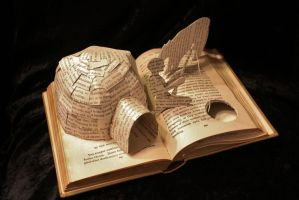 Arctic Fishing Book Sculpture by wetcanvas