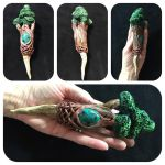 Tree of life antler wand by SagasCottage