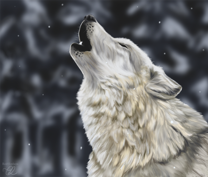 Howling in the Snow by red-embers