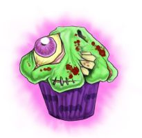 Zombie Cupcake by carrion-christ
