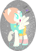  ~{MLP}~ Steven universe Pearl by ColorDream123