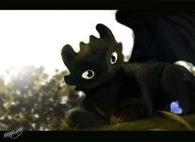 Toothless fan art by chocolatecherry