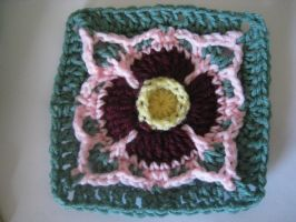 Water Lily Mandala Square by tigardneedlework
