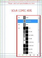 GIMP A5 Comic Page Template by aque-mizuhara